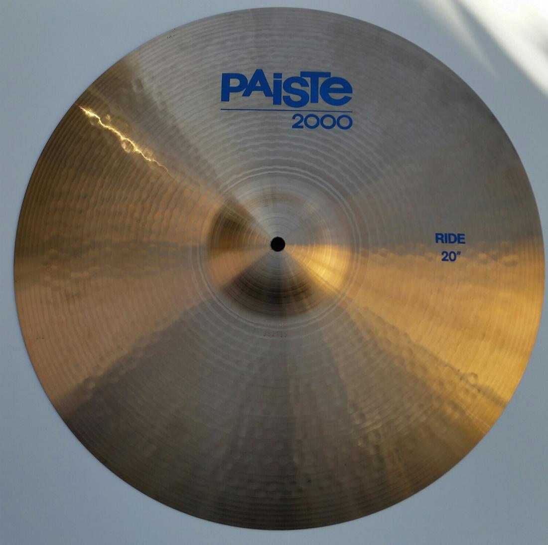 cb375a9ca4a2 Edgar Werner Musikexpress - Paiste 2000 20 Ride Cymbal