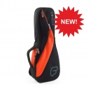 Fusion F4-26 Gigbag Sopran Ukulele black orange