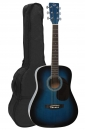VGS D-Baby Mini Dreadnought Westerngitarre 3/4 Grösse blueburst